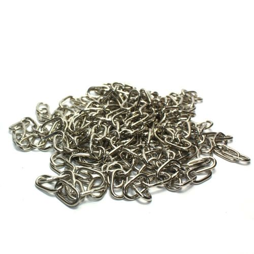 7 x Off-Cuts Chrome Plated Steel Welded Link Chain 19mm Links